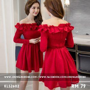 Elegant Off-shoulder Slim Dress