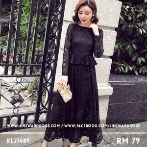 Trendy Lace Maxi Dress