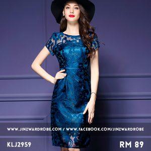 Elegant Embroidered Gauze Dress