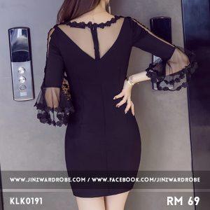 OL Gauze Slim Slit Dress
