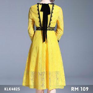 Lace Midi A-line Dress