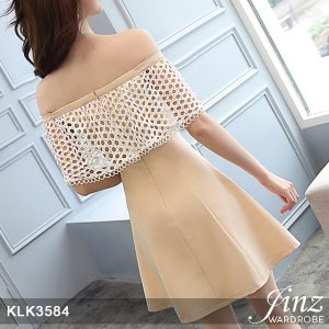 Lacing Off-shoulder A-line Dress