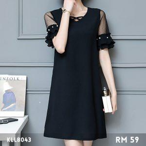 Lace Beaded Sleeve Dress