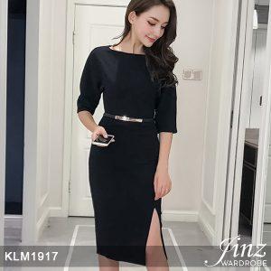 New Elegant V-neck A-line Dress (Free Belt)