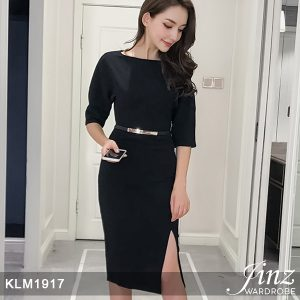 New Elegant V-neck A-line Dress